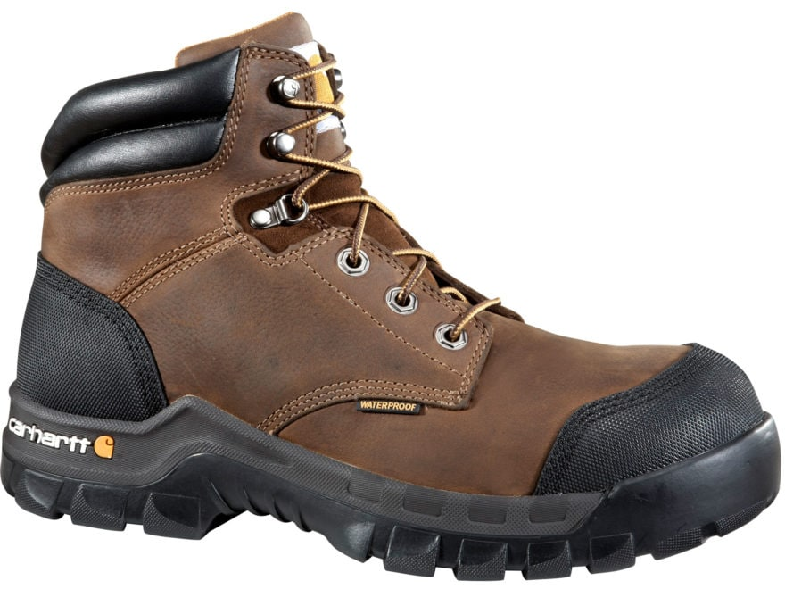"Carhartt Rugged Flex 6"" Composite Safety Toe Work Boots Leather Men's"