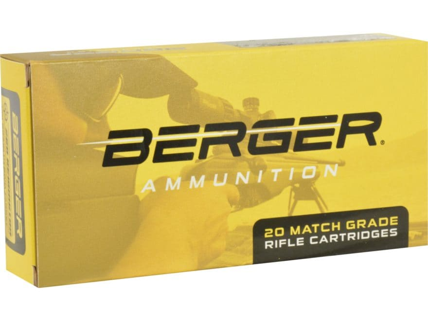 Berger Match Grade Ammunition 308 Winchester 185 Grain Juggernaut Target Box of 20