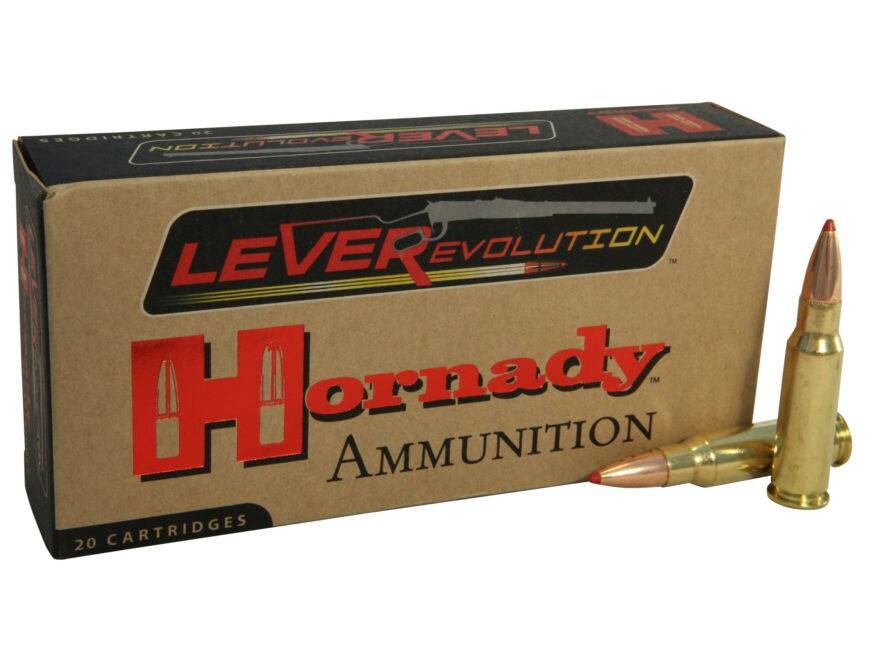 Hornady LEVERevolution Ammunition 338 Marlin Express 200 Grain Flex Tip eXpanding Box o...