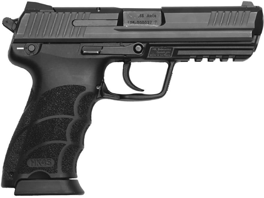 "HK HK45 V1 Pistol 45 ACP 4.46"" Barrel 10-Round Polymer Black"