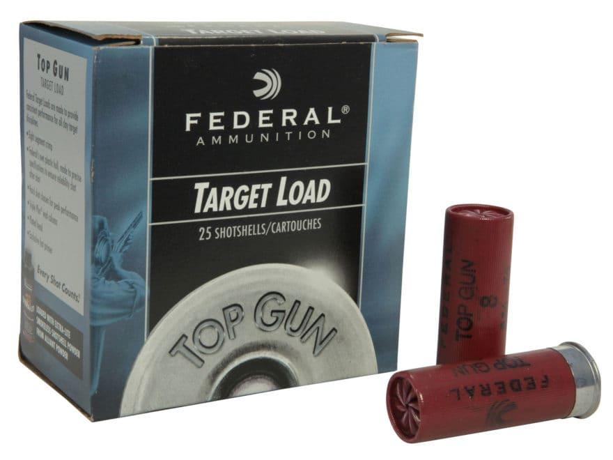 """Federal Top Gun Extra Lite Ammunition 12 Gauge 2-3/4"""" 7/8 oz #8 Shot"""