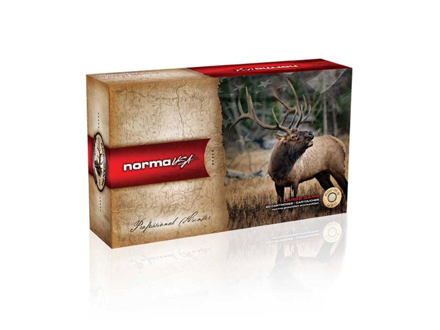 Norma USA American PH Ammunition 7mm Remington Magnum 156 Grain Oryx Protected Point Bo...