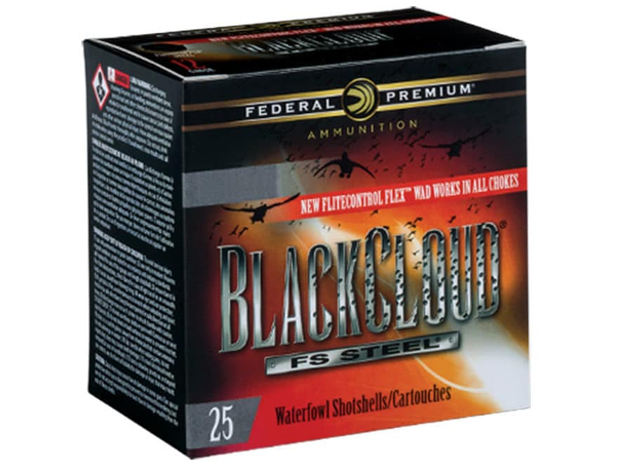 Federal Premium Black Cloud Ammunition 12 Gauge Non-Toxic FlightStopper Steel Shot