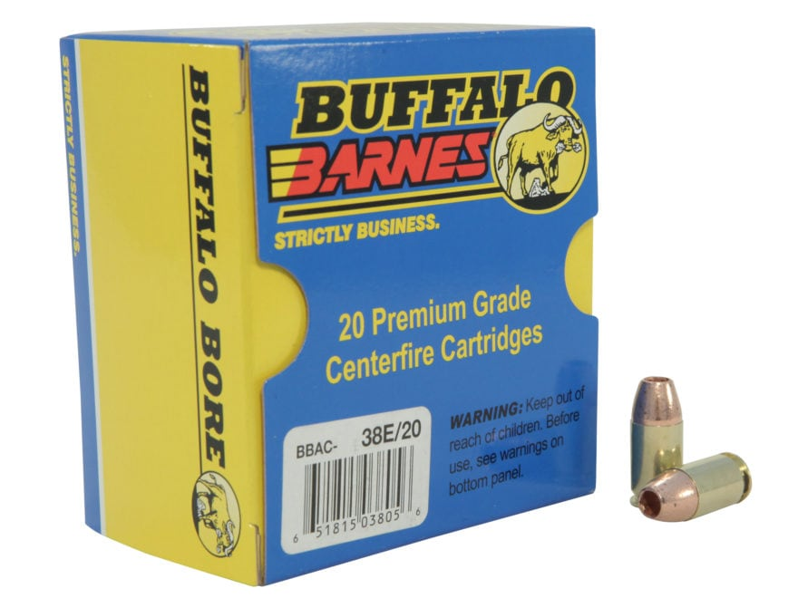 Buffalo Bore Ammunition 45 GAP 160 Grain Barnes TAC-XP Hollow Point Lead-Free Box of 20