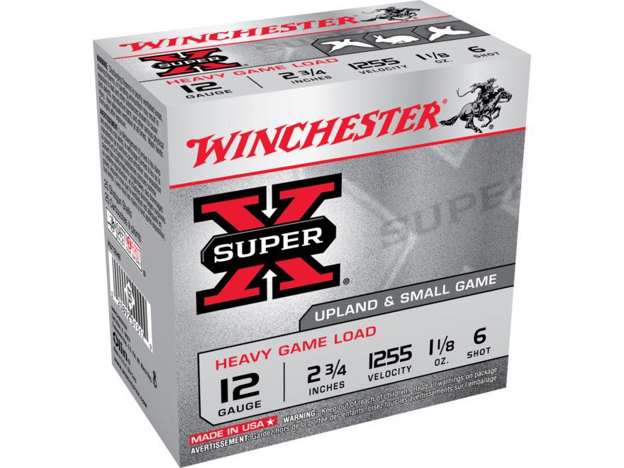 "Winchester Super-X Heavy Game Load Ammunition 12 Gauge 2-3/4"" 1-1/8 oz #6 Shot"