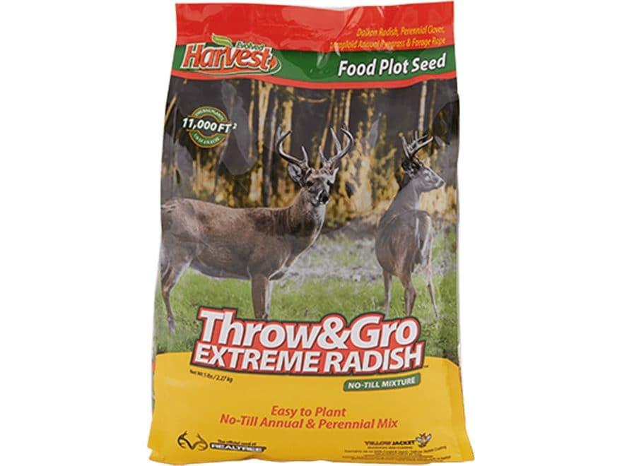 Evolved Harvest Throw and Gro Radish X-Treme Food Plot Seed 5 lb