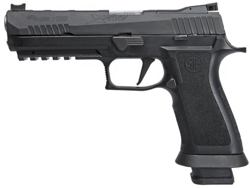 "Sig Sauer P320 X-Five Pistol 9mm Luger 5"" Barrel Adjustable Sights 21-Round Nitron Poly..."