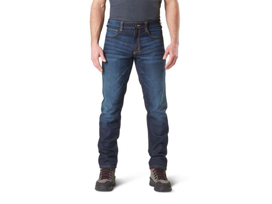 5.11 Men's Defender-Flex Slim Fit Tactical Jeans Cotton/Poly Denim Blend