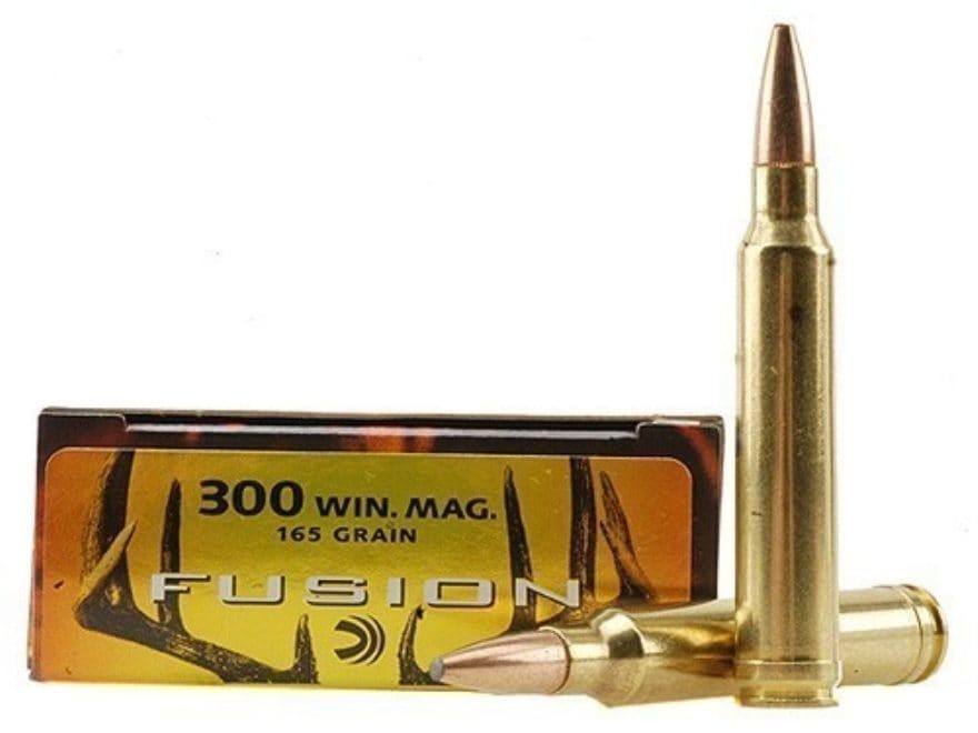 Federal Fusion Ammunition 300 Winchester Magnum 165 Grain Spitzer Boat Tail Box of 20