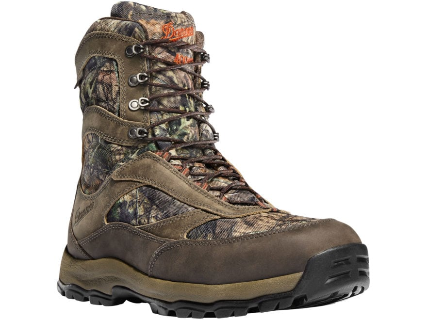 """Danner High Ground 8"""" GORE-TEX Insulated Hunting Boots Leather/Nylon Men's"""