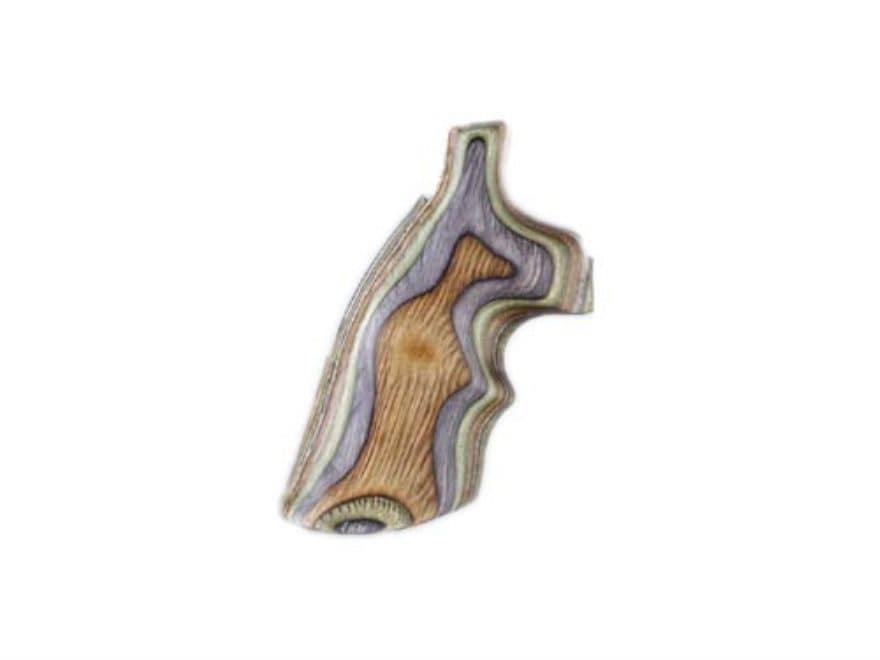 Hogue Fancy Hardwood Grips with Top Finger Groove Colt Python Lamo Camo