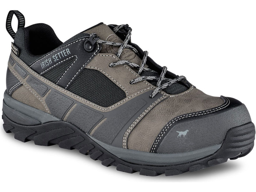 "Irish Setter Rockford 4"" Oxford Non-Metallic Safety Toe Work Shoes Leather/Nylon Men's"