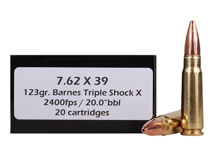 DoubleTap Ammunition 7.62x39mm 123 Grain Barnes TSX Hollow Point Boat Tail Lead-Free Bo...