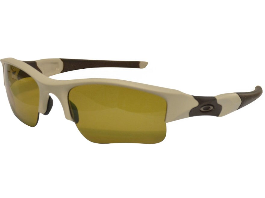 584508f0d5e Oakley Flak Jacket XLJ Polarized Sunglasses Bone Frame Brown Earsocks Amber  Lens
