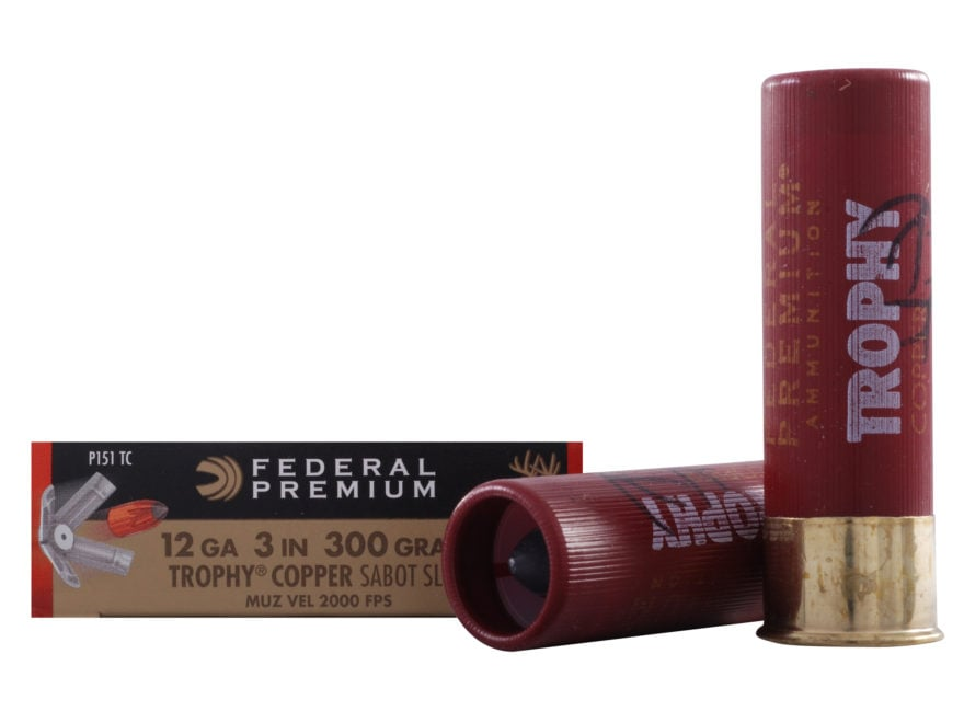 "Federal Premium Vital-Shok Ammunition 12 Gauge 3"" 300 Grain Trophy Copper Tipped Sabot ..."