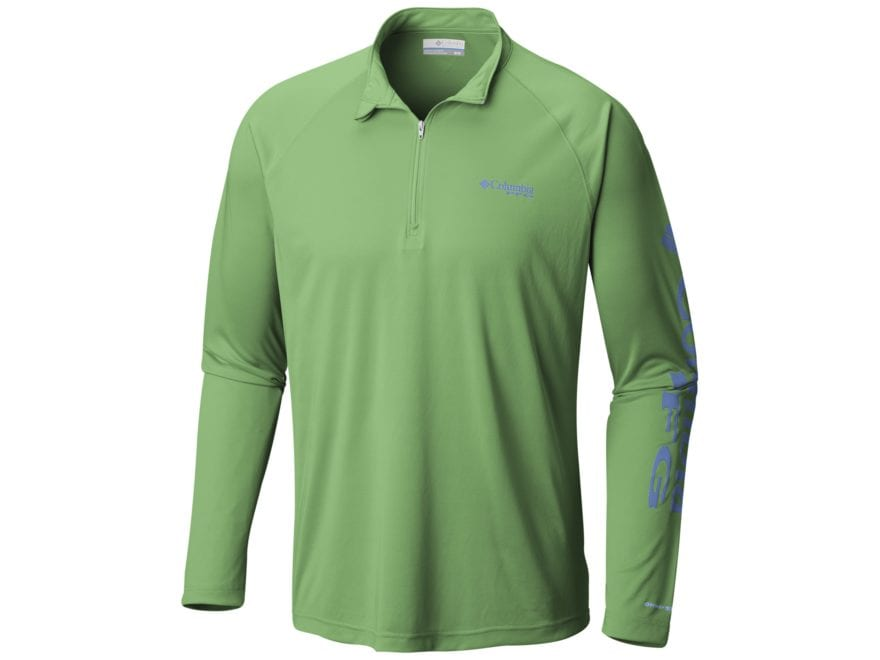 Columbia Men's PFG Terminal Tackle 1/4 Zip Shirt Long Sleeve Polyester