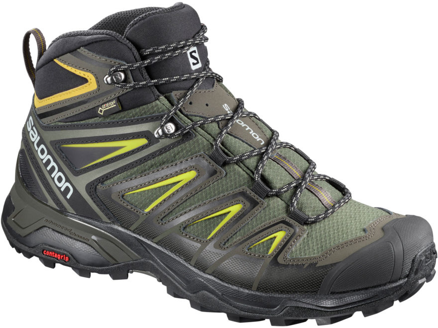 "Salomon X Ultra 3 Mid GTX 6"" GORE-TEX Hiking Boots Leather/Synthetic Men's"