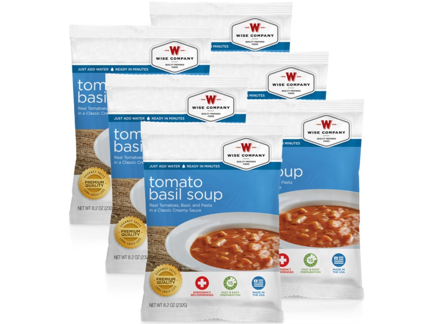 Wise Company Long Term 25 Year 4 Serving Tomato Basil Soup with Pasta Freeze Dried Food