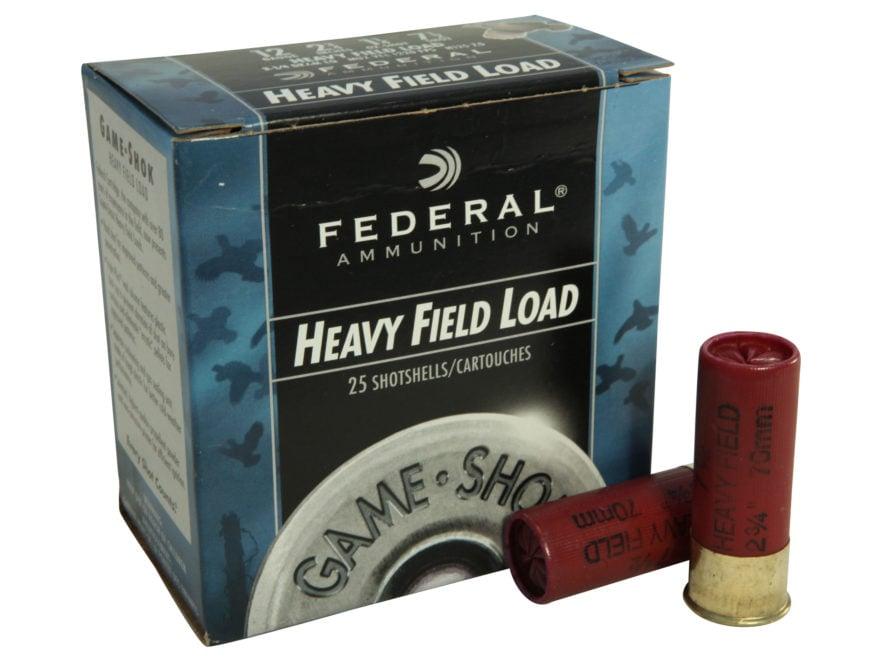 "Federal Game-Shok Heavy Field Load Ammunition 12 Gauge 2-3/4"" 1-1/4 oz"