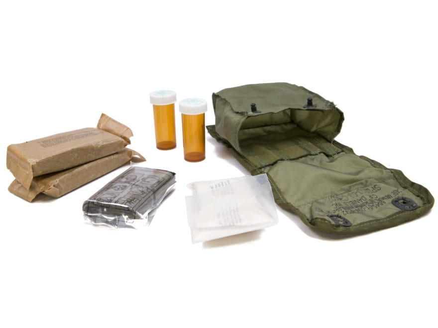 Military Surplus ALICE Individual First Aid Kit Grade 1 Olive Drab