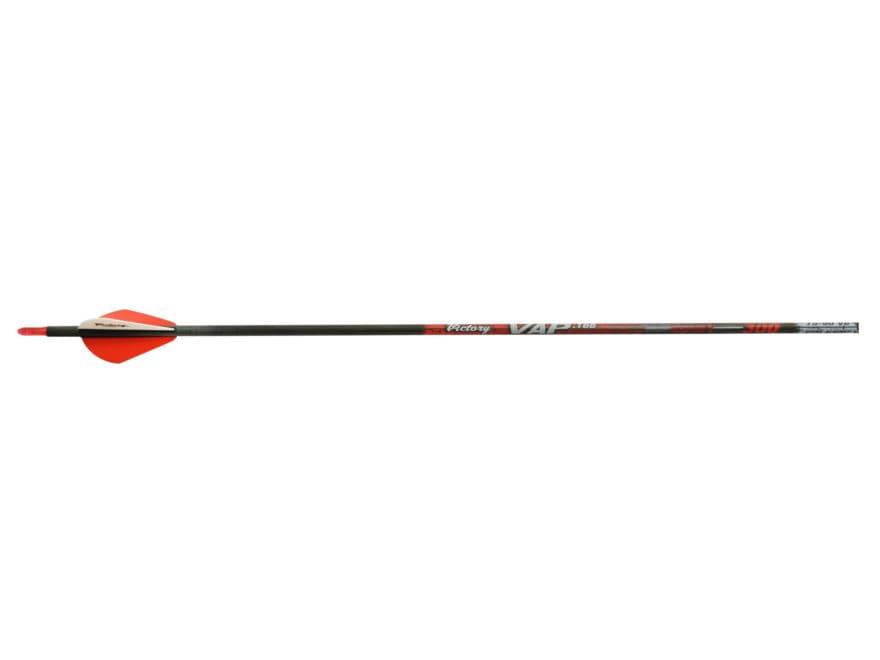 """Victory VAP .166 Series Sport 350 Carbon Arrow 2"""" Vanes Black Pack of 6"""