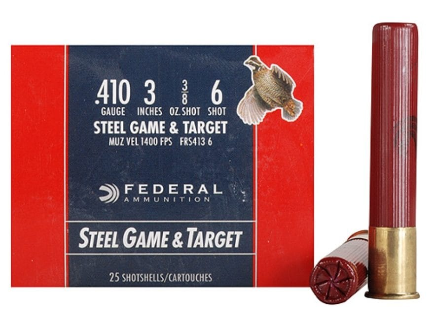"Federal Game & Target Ammunition 410 Bore 3"" 3/8 oz Non-Toxic Steel Shot"