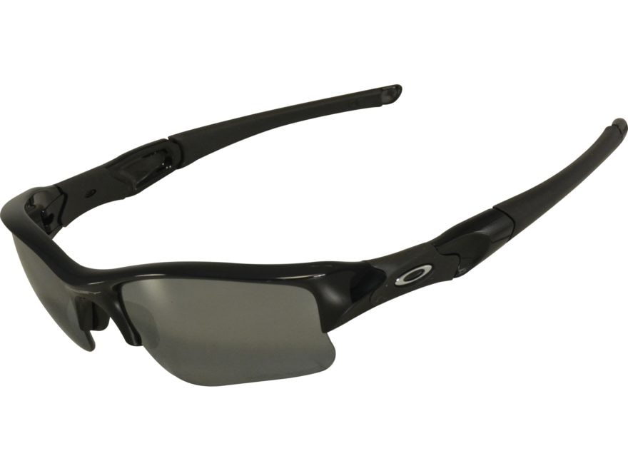 96a0571559ee3 Oakley Flak Jacket XLJ Polarized Sunglasses Jet Black Frame Black Iridium  Lens