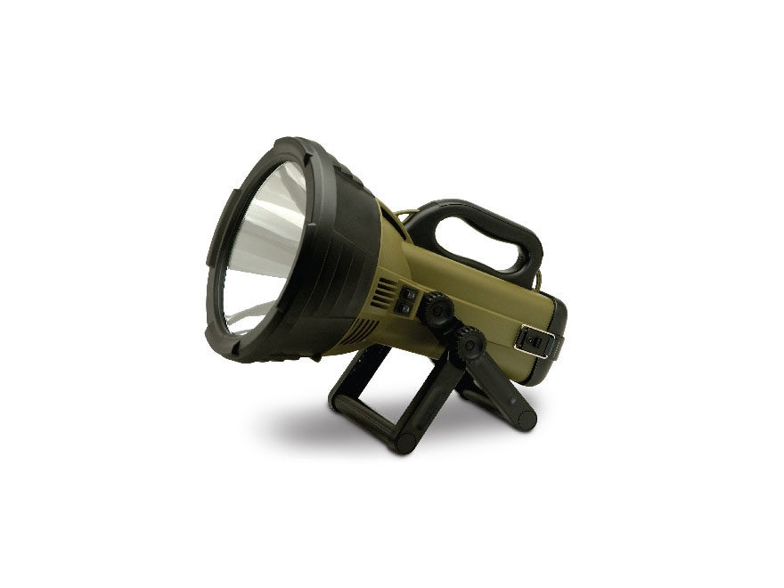 Cyclops Thor X Colossus Spotlight Halogen with Rechargeable Battery Polymer Green