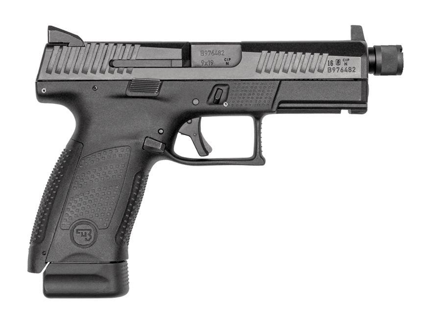 "CZ P-10 Compact Suppressor Ready Pistol 9mm Luger 4.61"" Barrel Threaded Night Sights 17..."
