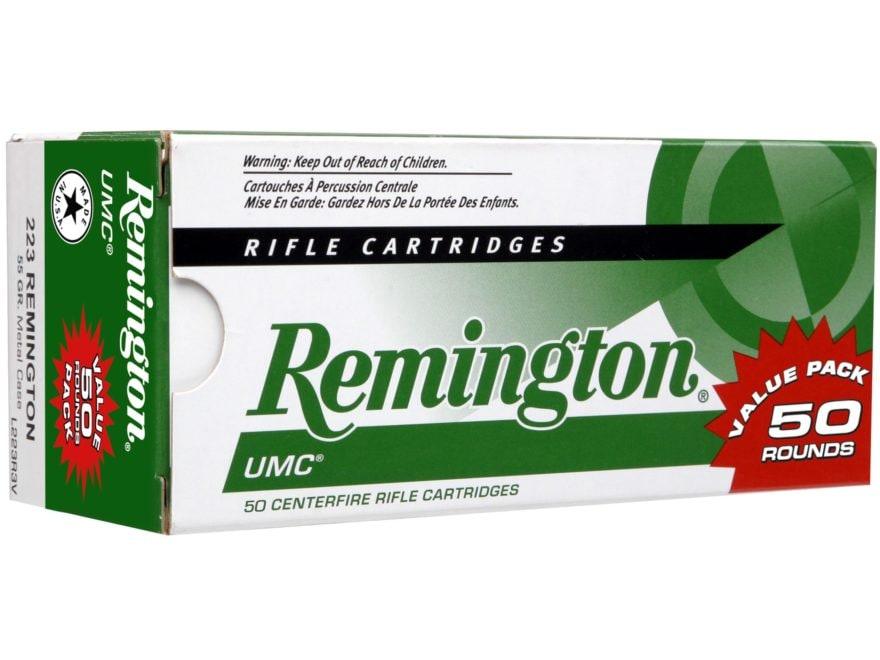 Remington UMC Ammunition 223 Remington 55 Grain Full Metal Jacket