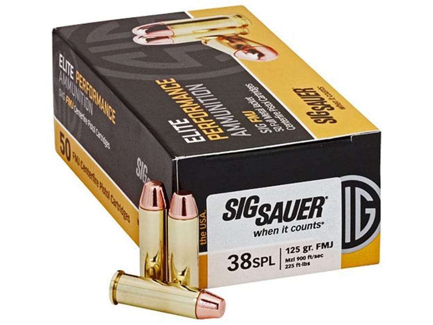 Sig Sauer Elite Performance Ammunition 38 Special 125 Grain Full Metal Jacket