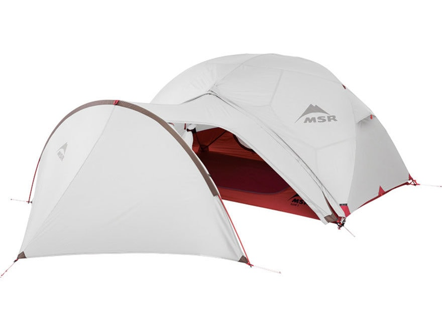 Msr Elixir Modified Dome Tent Gear Shed Polyester Red
