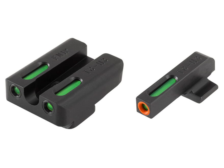 TRUGLO TFX Pro Sight Set FNX 45 Tritium / Fiber Optic Green with Orange Front Dot Outline