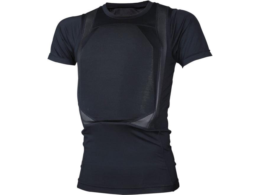 Tru-Spec Men's Concealed Armor Shirt Short Sleeve Polyester/Spandex Black