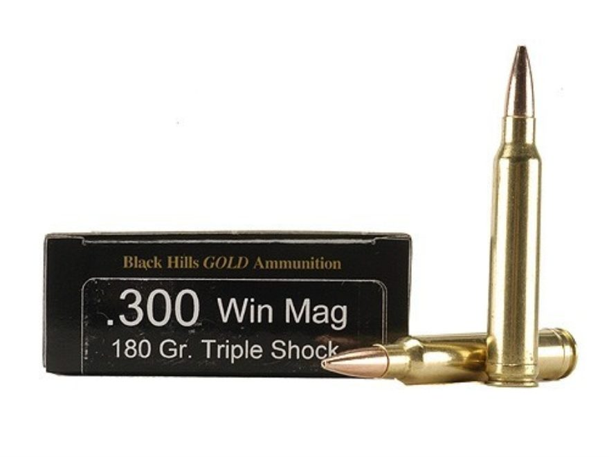 Black Hills Gold Ammunition 300 Winchester Magnum 180 Grain Barnes TSX Hollow Point Boa...