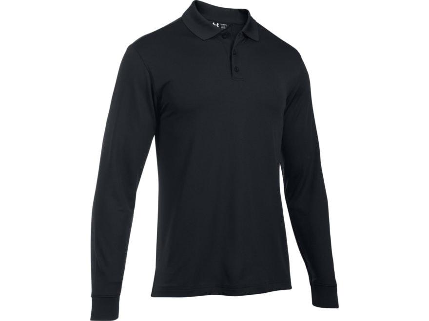 af37c3ce Under Armour Men's UA Tac Performance Polo Long Sleeve Polyester Black