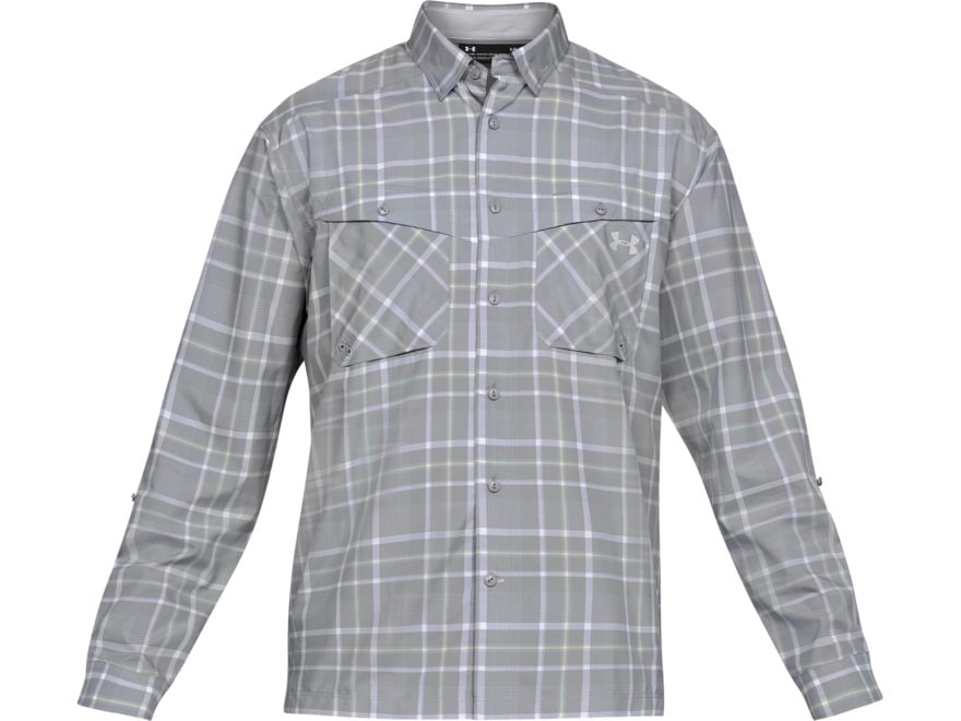 a359f45c6e Under Armour Men's UA Tide Chaser Plaid Button-Up Shirt Long Sleeve  Polyester