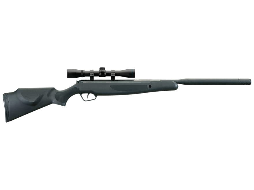 Stoeger X20 Suppressor Air Rifle Pellet Black Synthetic Stock Black Barrel with 4x32 Scope