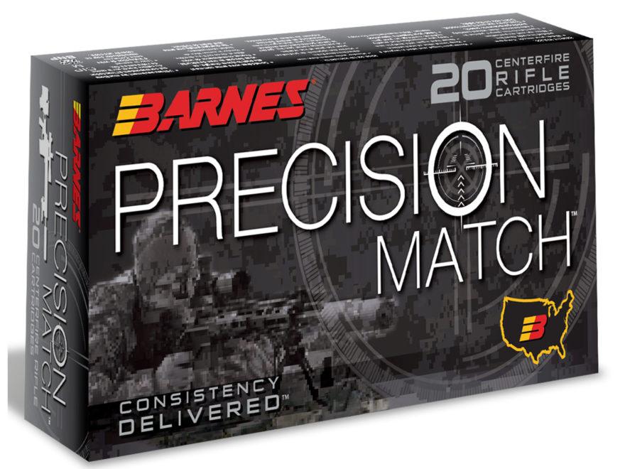 Barnes Precision Match Ammunition 6mm Creedmoor 112 Grain Open Tip Match Box of 20