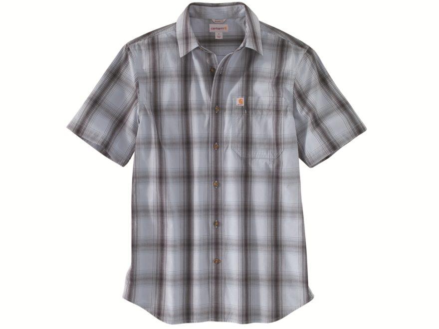 Carhartt Men's Essential Plaid Button-Up Shirt Short Sleeve Cotton/Spandex