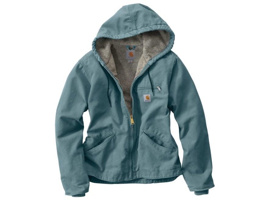 Carhartt Women's Sandstone Sierra Sherpa Lined Full-Zip Hooded Jacket Cotton