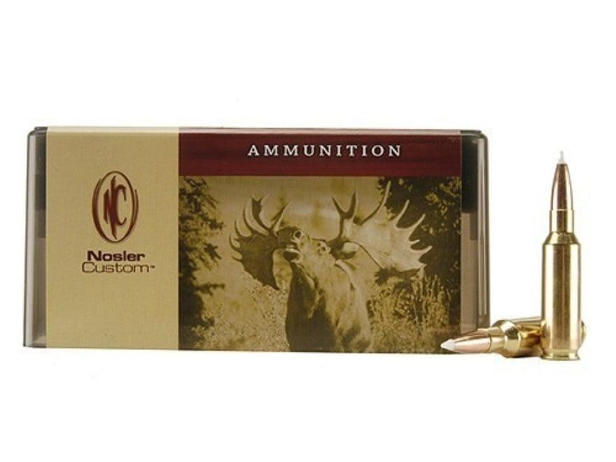 Nosler Custom Ammunition 300 Remington Short Action Ultra Magnum 200 Grain AccuBond Spi...