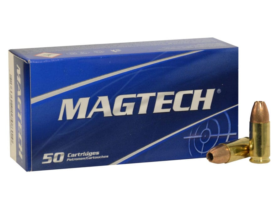 Magtech Sport Ammunition 9mm Luger +P+ 115 Grain Jacketed Hollow Point Box of 50