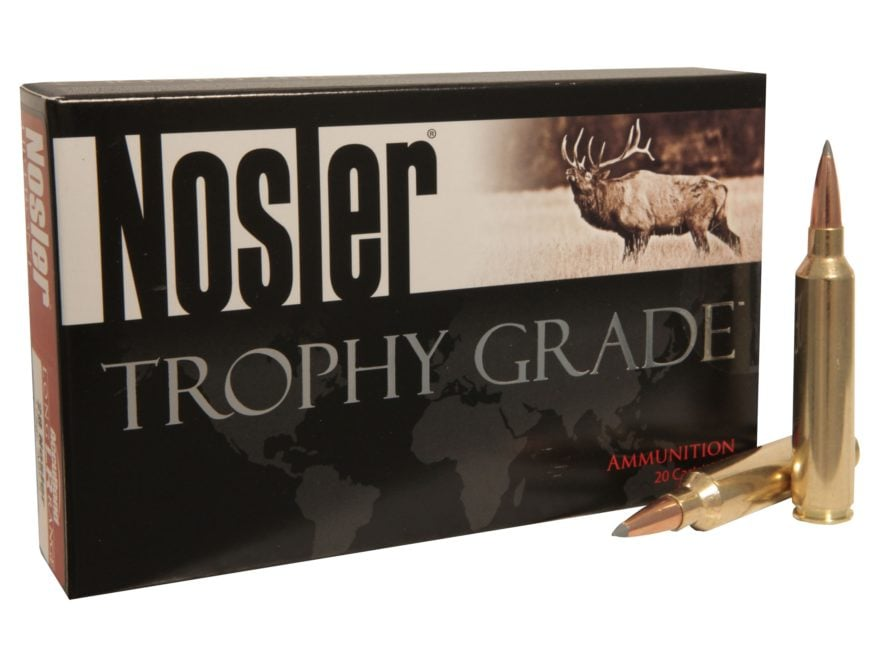 Nosler Trophy Grade Ammunition 30 Nosler 210 Grain AccuBond Long Range Box of 20