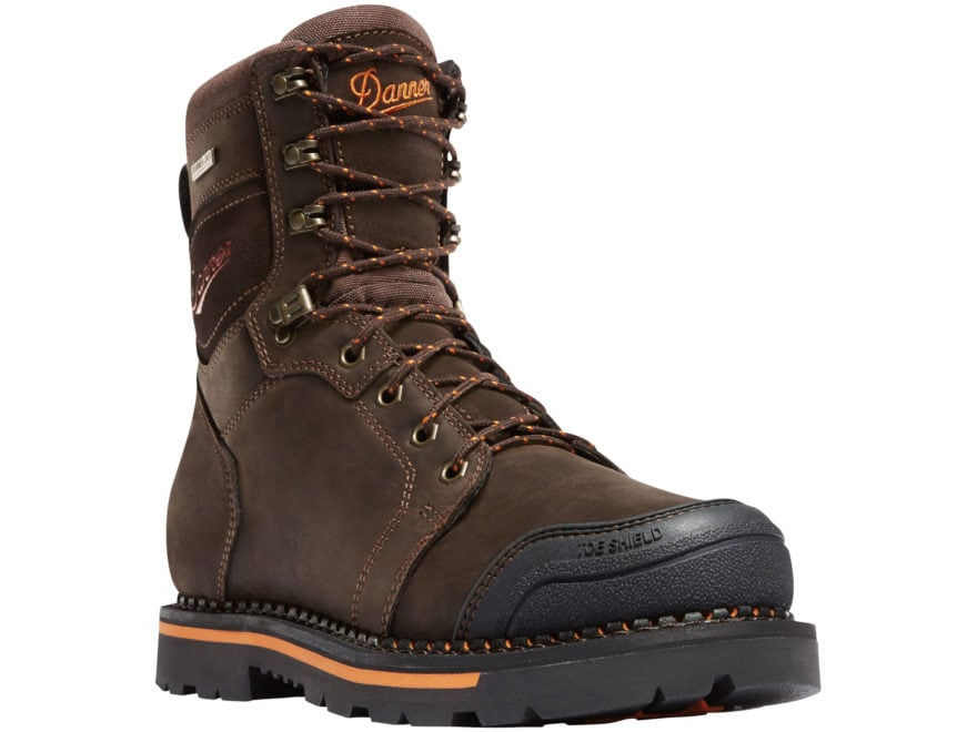 "Danner Trakwelt 8"" Waterproof Non-Metallic Safety Toe Work Boots Leather Men's"