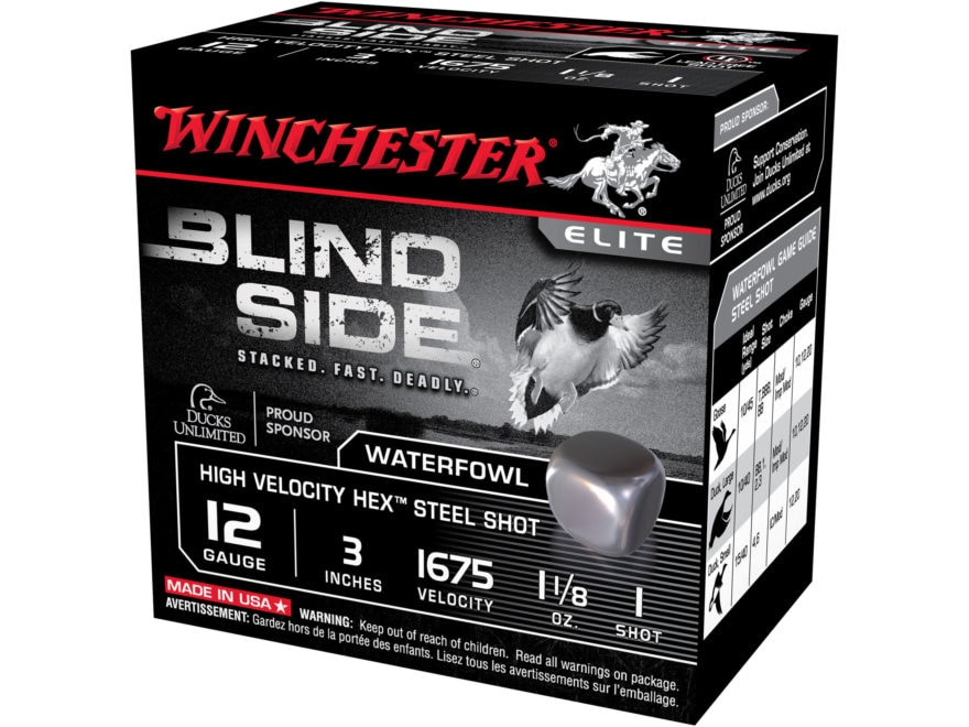 Winchester Blind Side High Velocity Ammunition 12 Gauge Non-Toxic Steel Shot