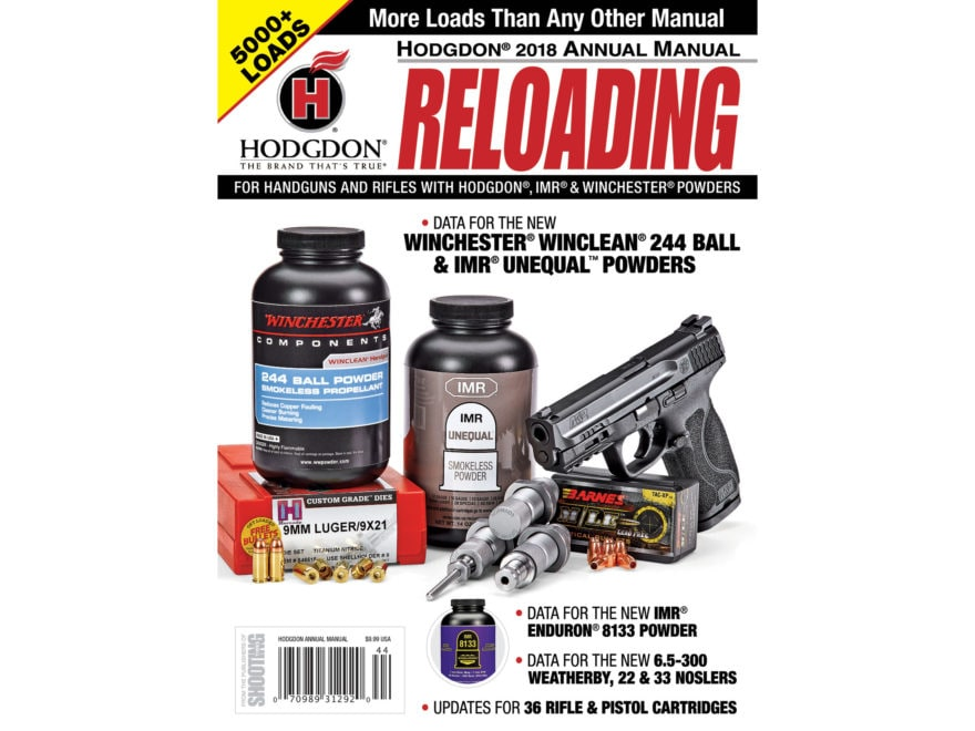 Hodgdon 2018 Annual Reloading Manual