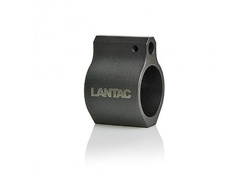 "LANTAC Low Profile Gas Block AR-15, LR-308 Standard Barrel .750"" Steel Matte"