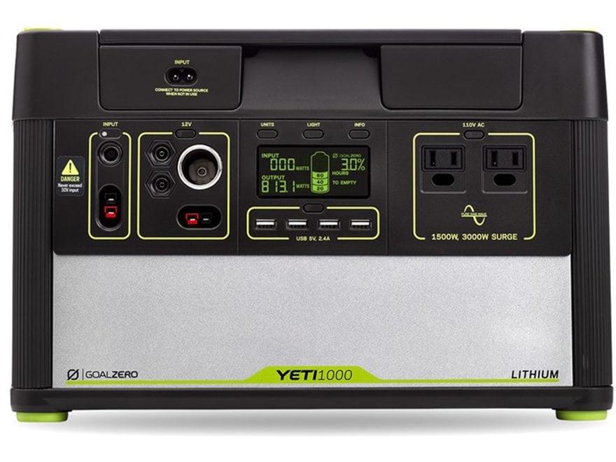 GoalZero Yeti 1000 Lithium Portable Solar Power Station