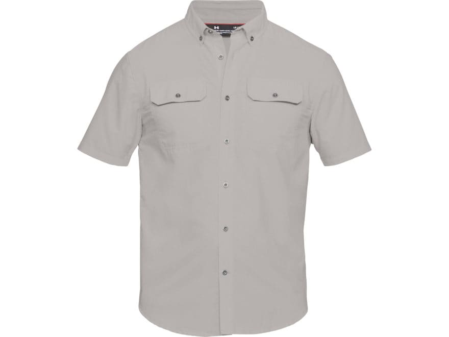 Under Armour Men's UA Threadborne Grit Button-Up Shirt Short Sleeve Poly/Elastrell/Rayon